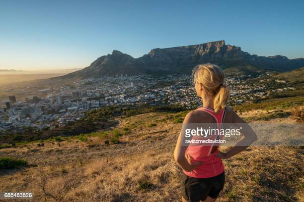 Morning contemplation after jogging, Cape Town, South Africa