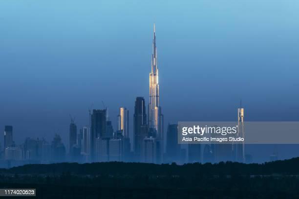 morning, dubai. - burj khalifa stock pictures, royalty-free photos & images