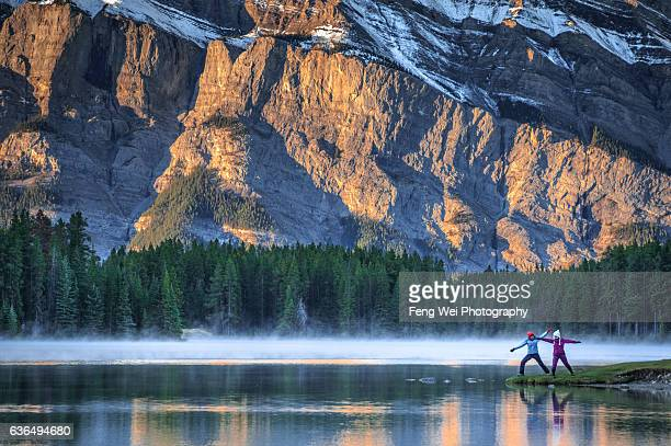 Morning Exercise @ Two Jack Lake, Banff National Park, Alberta, Canada