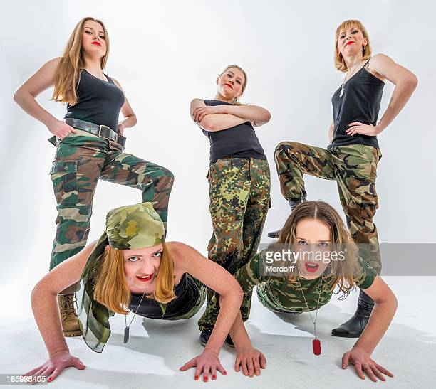 Morning exercises for military ladies