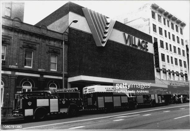 Morning fire at Village Theatre complex George Street December 22 1988