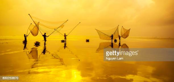 morning fishing - mekong delta stock pictures, royalty-free photos & images