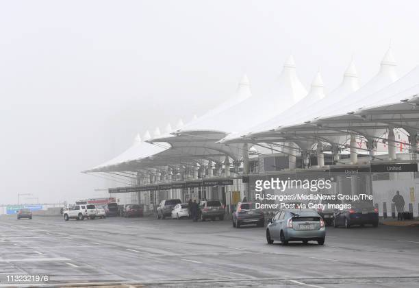 Morning fog causes delays at Denver International Airport on February 26 2019 in Denver Colorado