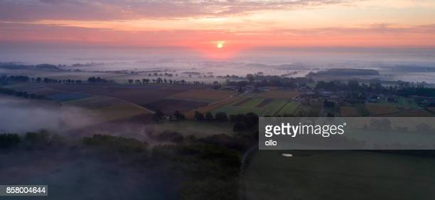 Ochtend mist over Bourgogne, France