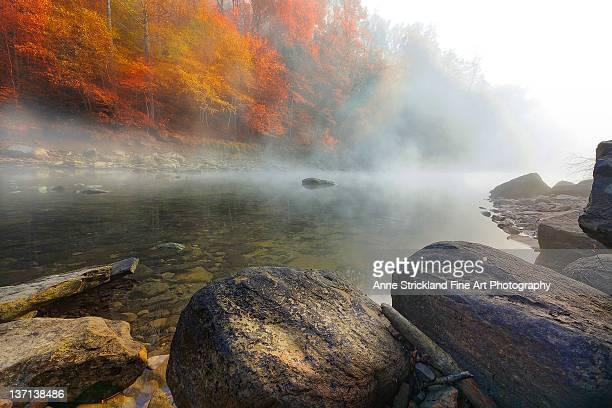 Morning fog rises over Alabama Creek