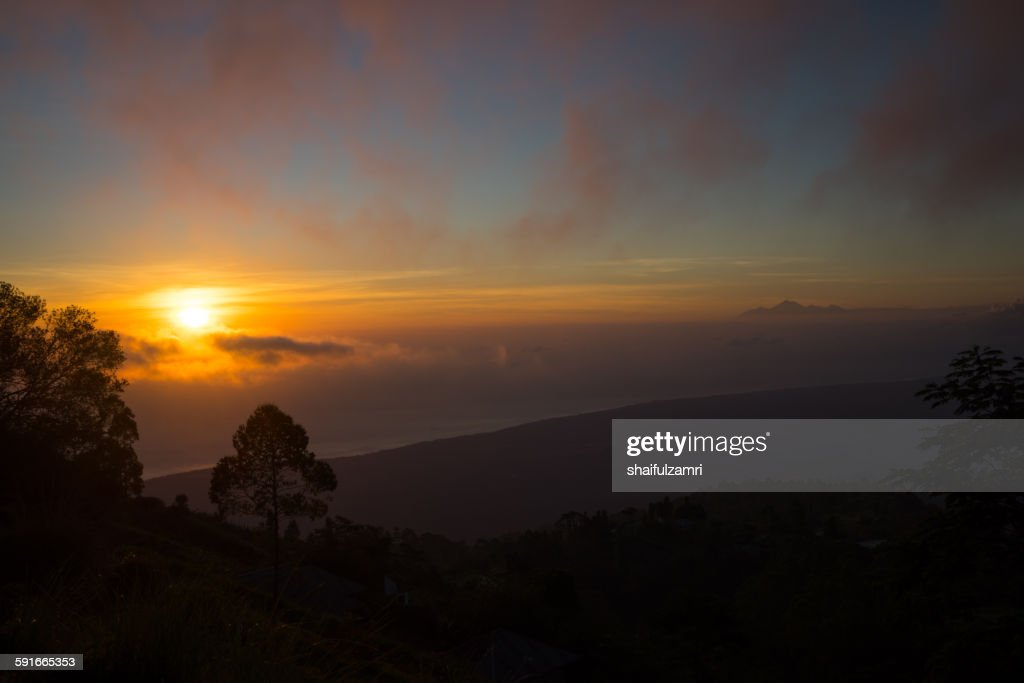 Morning from Batur : Stock Photo