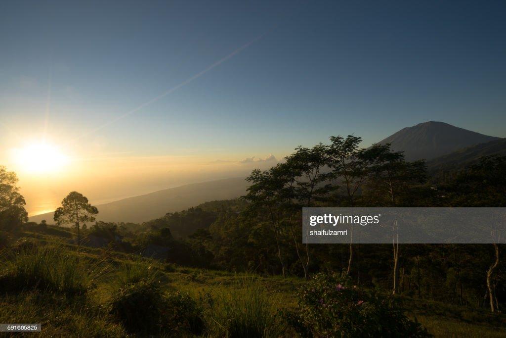 Morning from Batur : Stock Photo