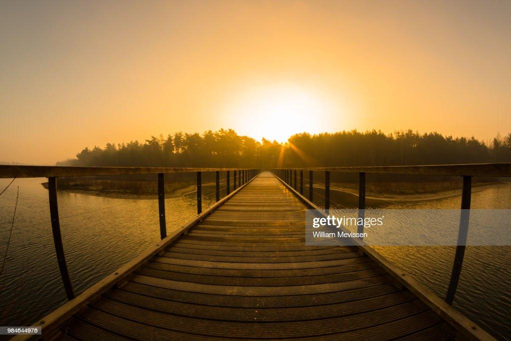 Morning Glow 'Bridge' : Stockfoto