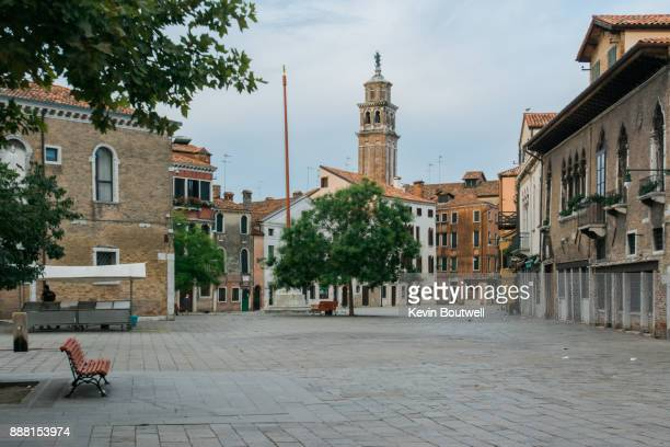 morning in campo santa margherita - campo stock pictures, royalty-free photos & images