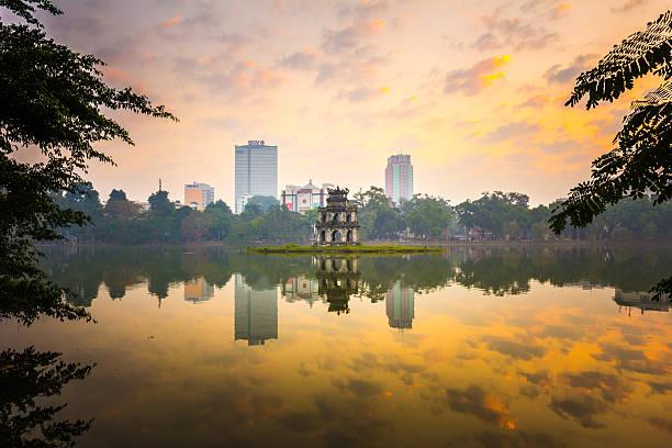 Morning In Hoan Kiem Lake Of Hanoi Wall Art