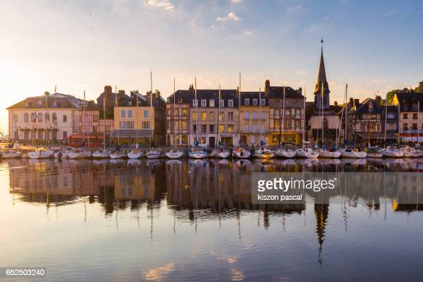 Morning in Honfleur , Normandy , France