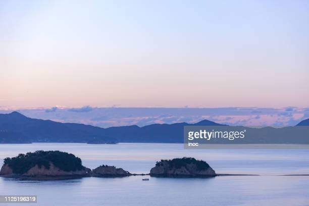 morning in island - kagawa ストックフォトと画像