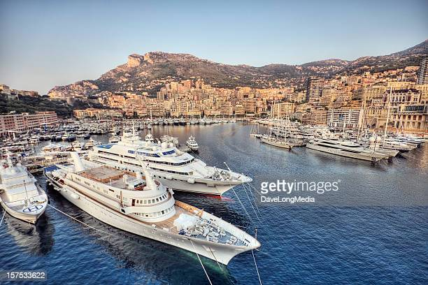 morning in monaco - monaco stock pictures, royalty-free photos & images