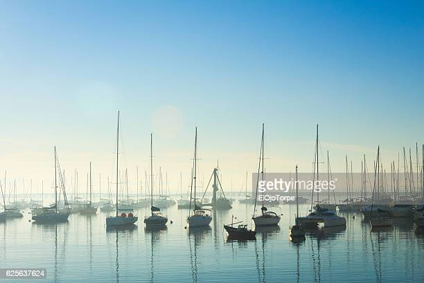 morning in puertito del buceo, montevideo, uruguay - uruguay stock pictures, royalty-free photos & images