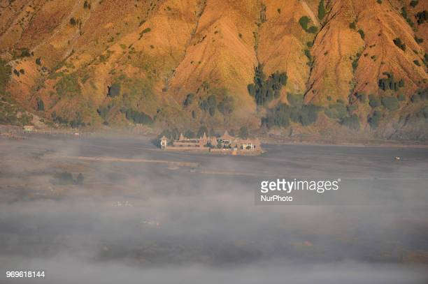 Morning in the area of Mount Bromo included in the tourist area of Bromo Tengger Semeru National Park which is located East Java on June 8 2017 Bromo...