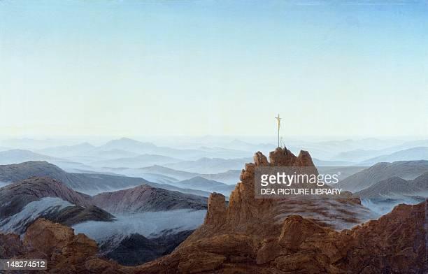 Morning in the Riesengebirge, 1810-1811, by Caspar David Friedrich , oil on canvas, 108x170 cm. ; Berlin, Schloss Charlottenburg .