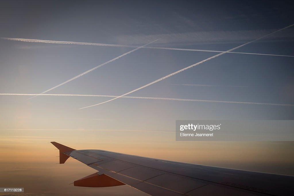 Morning in the sky, Mediterranea, France, 2012 : Stock Photo