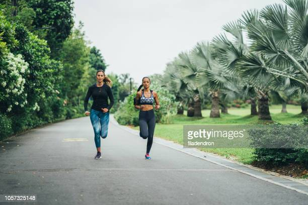morning jogging in the park - center athlete stock pictures, royalty-free photos & images