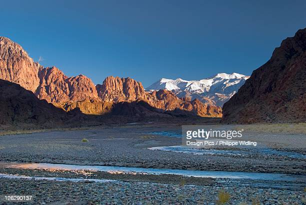 morning light in the valley of the andes of argentina