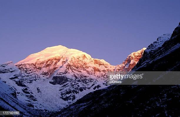 Morning Light On Chomolhari Mountain, Bhutan