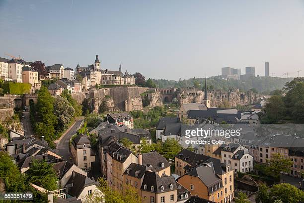 Morning light on Luxembourg old city