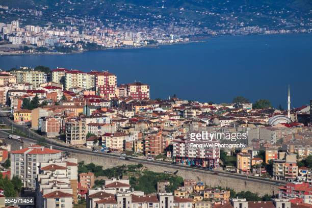 morning light over trabzon, black sea region, turkey - trabzon stock photos and pictures