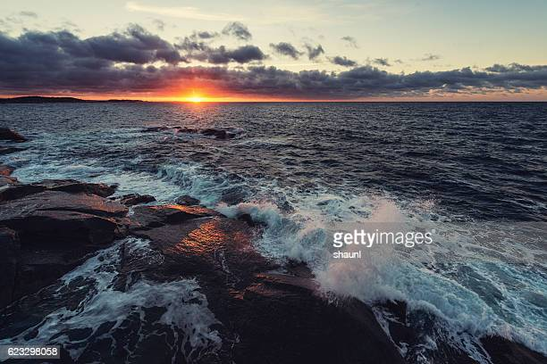 morning light - atlantic ocean stock pictures, royalty-free photos & images