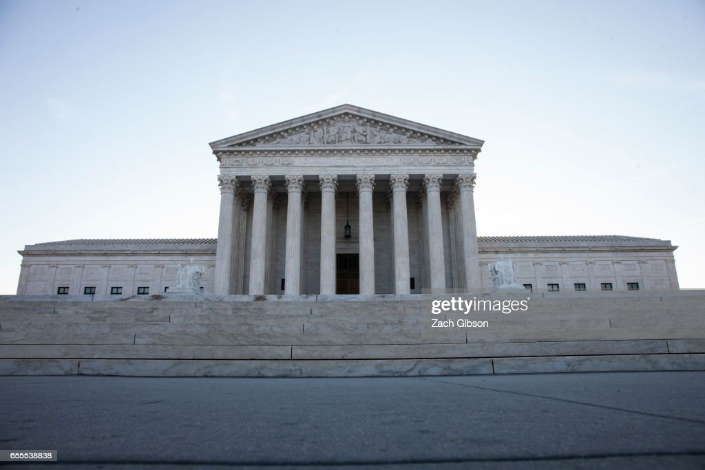 Morning light shines outside The United States Supreme Court building on March 20, 2017 in Washington, D.C. The Senate will hold a confirmation hearing for Supreme Court Nominee Neil Gorsuch.