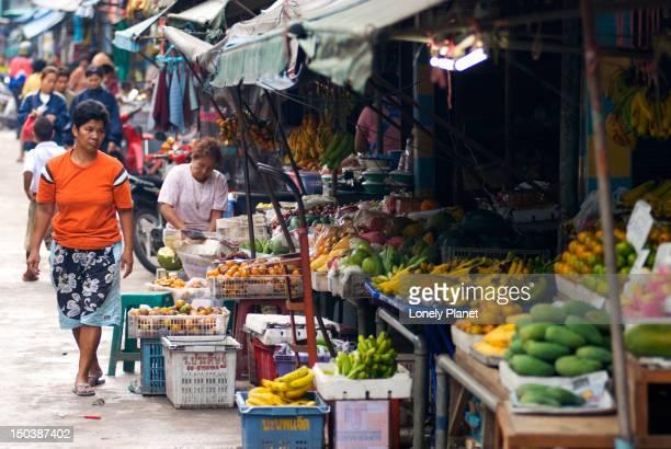 Morning market fruit stall.