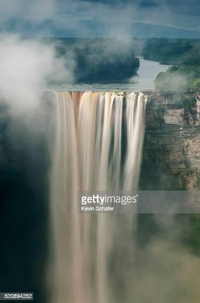 morning mist, kaieteur falls, kaieteur national park, guyana - guyana stock pictures, royalty-free photos & images