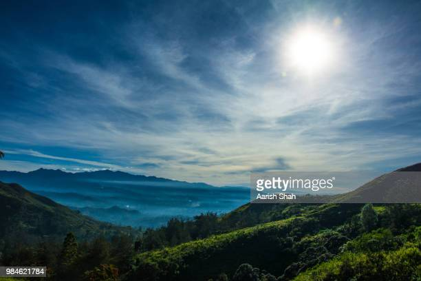 morning mist on the mountains - papua new guinea stock pictures, royalty-free photos & images