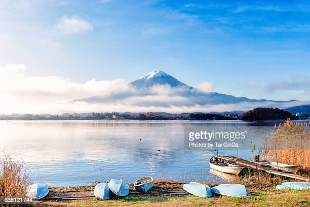 Morning mist with Mt.Fuji