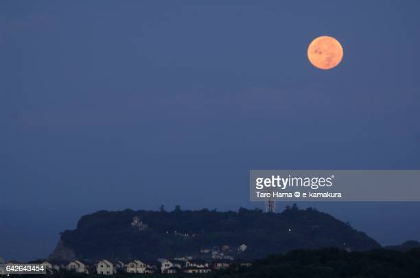 Morning moon on Enoshima island