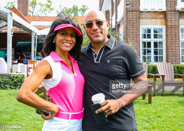 Morning News Anchor WDIV-TV4 - Rhonda Walker and Dennis Archer Jr. Attend at the Jalen Rose Leadership Academy Golf Tournament presented by Tom Gores...