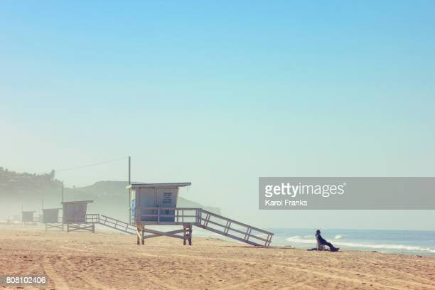 morning ocean view - zuma beach stock photos and pictures