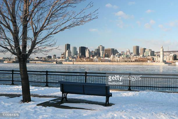 Morning on Montreal City in Winter