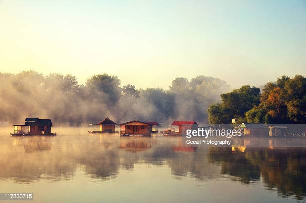 morning on river sava - belgrade serbia stock pictures, royalty-free photos & images