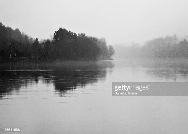 morning on the kennebec river - augusta maine stock pictures, royalty-free photos & images