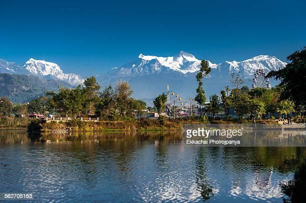 morning phewa - pokhara stock pictures, royalty-free photos & images