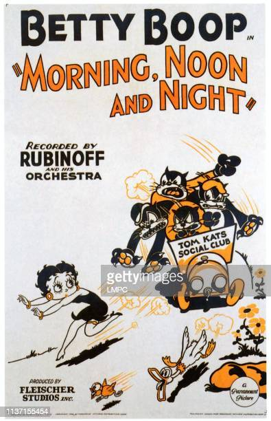Morning, poster, NOON, AND NIGHT, Betty Boop, 1933.
