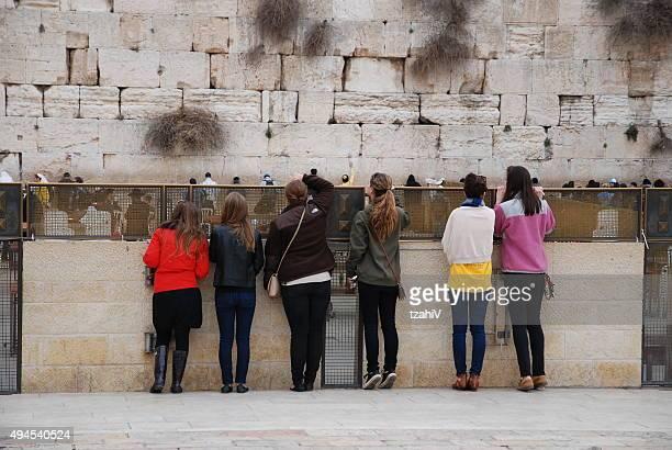 Morning prayers in Western Wall of Jerusalem