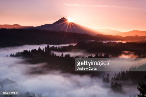 Morning rays over Mt. Hood