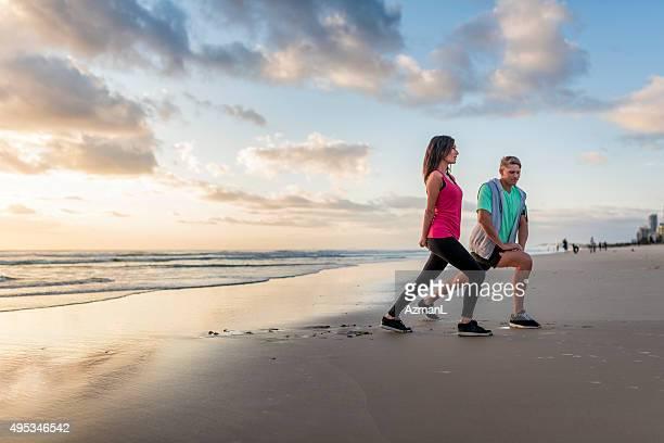 Morning Recretion on a Beach