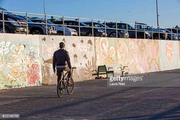 morning ride - bondi beach stock pictures, royalty-free photos & images