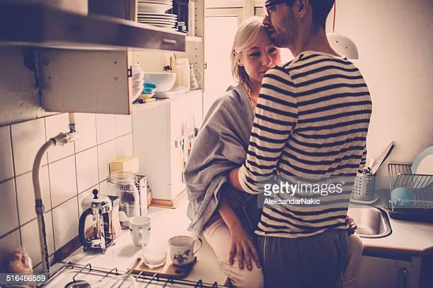 Morgen Romantik in der Küche
