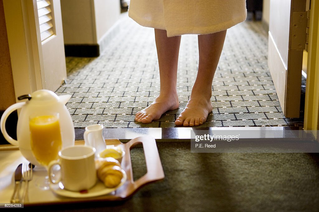 Morning Room Service : Stock Photo
