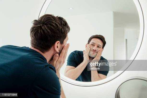 morning routine - only men stock pictures, royalty-free photos & images