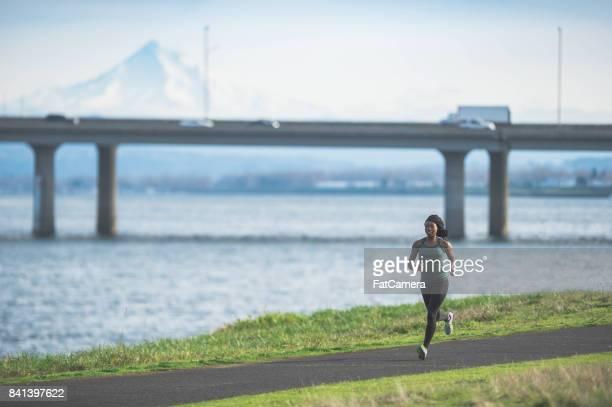 A morning run along the river