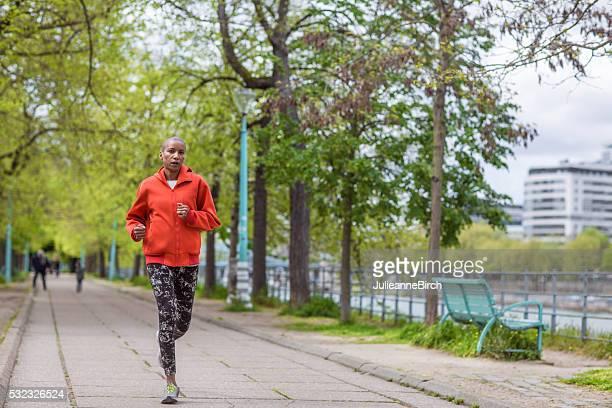 Morning run along the Seine
