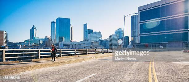 morning run through the city